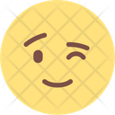 Wink Expression Face Icon