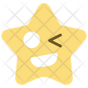 Wink Emoticon Star Icon
