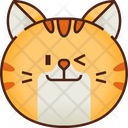 Wink Emoticon Cat Icon