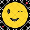 Wink Emoticon Face Icon