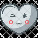 Set Light Heart Emoji Icon Icon