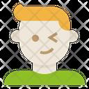 Smile Wink Man Icon