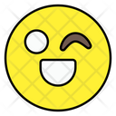 Wink Emoji Emoticon Smiley Icon