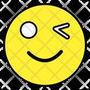 Wink Emoji Emotion Emoticon Icon