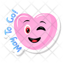 Wink Heart Icon