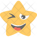 Winking Smirking Star Icon