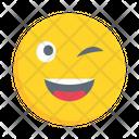 Emoticon Winking Eye Icon