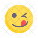 Winking Silly Stupid Icon