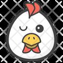 Winking Eye Egg Icon