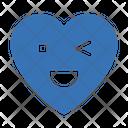 Winkingeye Heart Emoji Icon