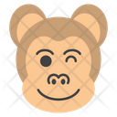 Winking Eye Monkey Emoji Emoticon Icon