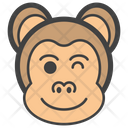 Winking Eye Monkey Icon
