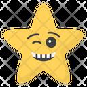 Winking Eye Star Icon