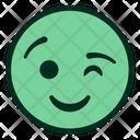 Wink Smiley Flirty Icon