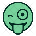 Wink Tongue Smiley Icon