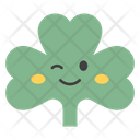 Winky Coriander Face Coriander Face Emoticon Icon