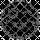 Emoticon Winky Emoji Funny Emoji Icon