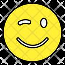 Winky Emoji Emoticon Smiley Icon