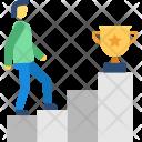 Winner Success Stairs Icon