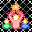 Winner Star Human Icon