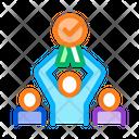 Human Winner Holding Icon