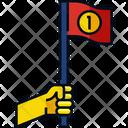 Flag Achievement Strategy Icon