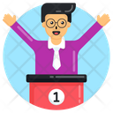 Happy Person Winner Champion Icon