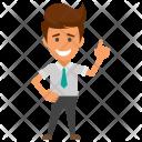 Winner Businessman Icon