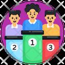Employee Ranking Winner Podium Leaderboard Icon