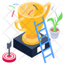 Business Success Trophy Achievement Icon