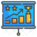 Winning Graph Graph Trophy Icon
