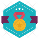 League Competition Logo Winning Medal Badge Medal Label Icon
