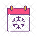 Winter Calendar Snow Calendar Icon