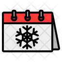 Winter Winter Calendar Snowflake Icon