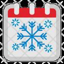 Snow Flake Calendar Icon