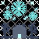 Winter Fallen Leaves Icon