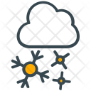 Winter Cloud Snowflake Icon
