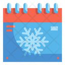 Winter Season Calendar Icon