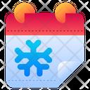 Winter Calendar Snow Icon