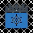 Calendar Snowflake Christmas Icon