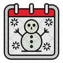 Snowman Calendar Date Icon