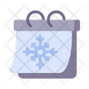 Calendar Winter Snowflake Icon