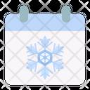 Calendar Snowflake Snow Icon