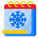 Winter Calendar Snow Day Icon