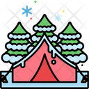 Mwinter Camping Winter Camp Winter Tent Icon
