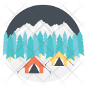 Winter Vacations Camp Icon