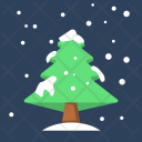 Winter Christmas Tree Icon