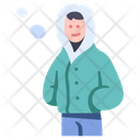 Winter People Cold Icon
