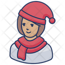Winter Girl Icon
