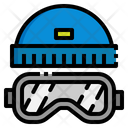 Goggles Winter Hat Icon